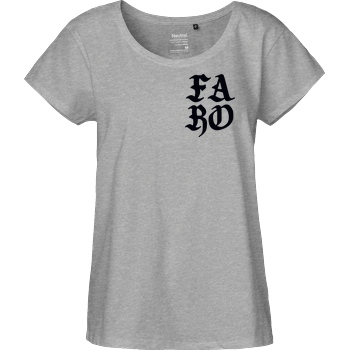 Faro Faro - FARO T-Shirt Fairtrade Loose Fit Girlie - heather grey