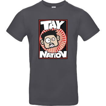 MasterTay MasterTay - Tay Nation T-Shirt B&C EXACT 190 - Dark Grey