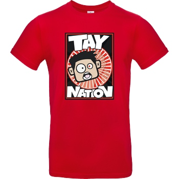 MasterTay MasterTay - Tay Nation T-Shirt B&C EXACT 190 - Red