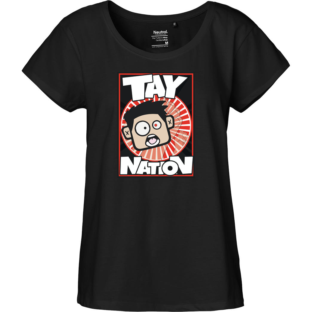 MasterTay MasterTay - Tay Nation T-Shirt Fairtrade Loose Fit Girlie