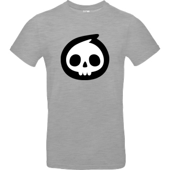 Mien Wayne Mien Wayne - Skull T-Shirt B&C EXACT 190 - heather grey