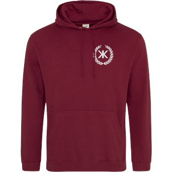 KenkiX KenkiX - Embroidered Logo Sweatshirt JH Hoodie - Bordeaux