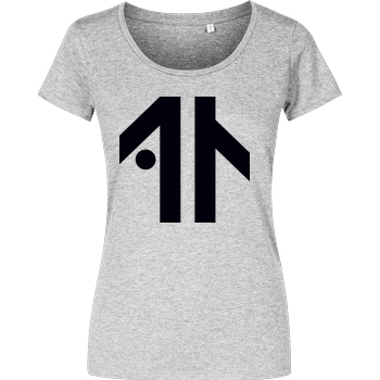 Dustin Dustin Naujokat - Logo T-Shirt Girlshirt heather grey