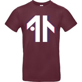 Dustin Dustin Naujokat - Colorway Logo T-Shirt B&C EXACT 190 - Bordeaux