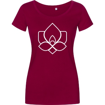 Der Keller Der Keller - Rose Clean T-Shirt Damenshirt berry