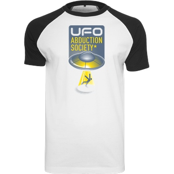 JUMABC Alien Abduction Society T-Shirt Raglan Tee white