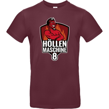 None PC-Welt - Höllenmaschine 8 T-Shirt B&C EXACT 190 - Burgundy
