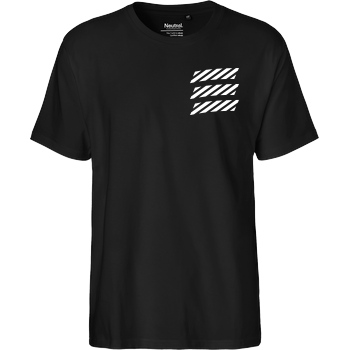 Echtso Echtso - Striped Logo T-Shirt Fairtrade T-Shirt - schwarz