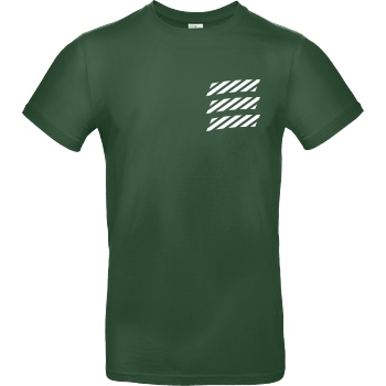 Echtso Echtso - Striped Logo T-Shirt B&C EXACT 190 -  Bottle Green