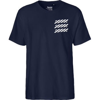 Echtso Echtso - Striped Logo T-Shirt Fairtrade T-Shirt - navy