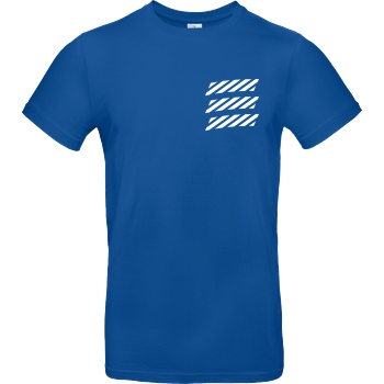 Echtso Echtso - Striped Logo T-Shirt B&C EXACT 190 - Royal Blue