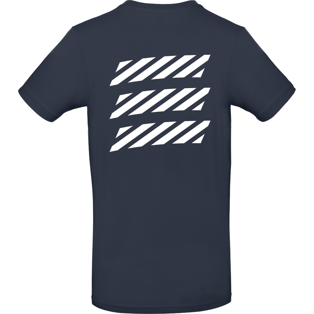 Echtso Echtso - Striped Logo T-Shirt B&C EXACT 190 - Navy