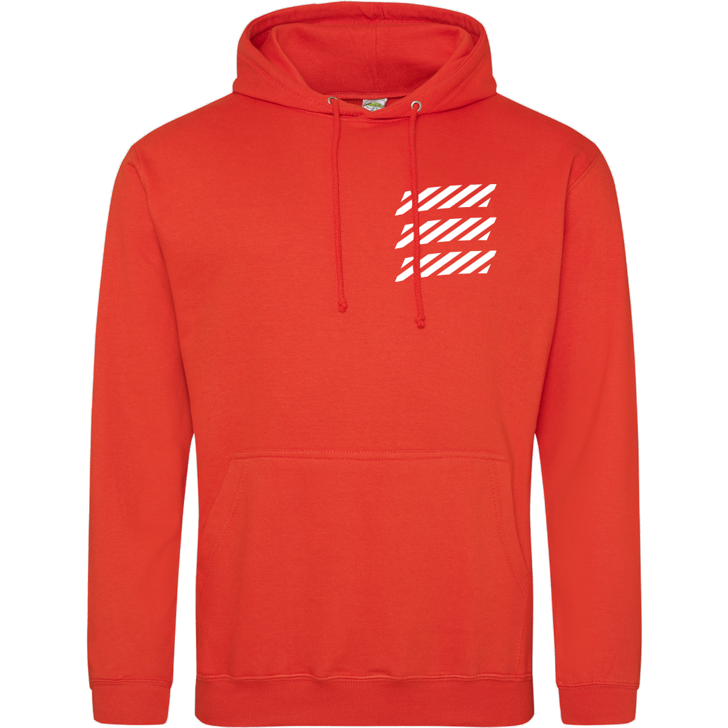 Echtso Echtso - Striped Logo Sweatshirt JH Hoodie - Orange