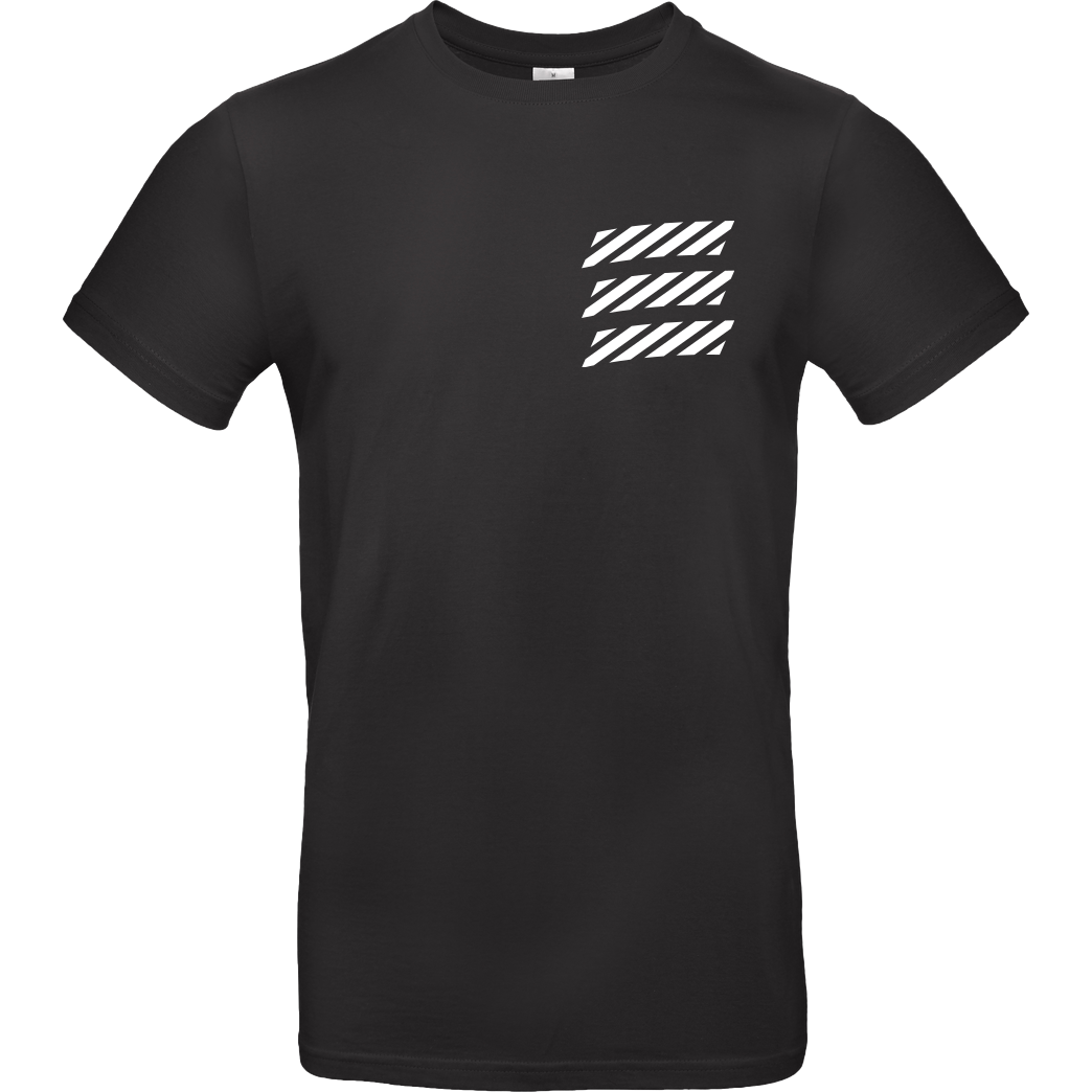 Echtso Echtso - Striped Logo T-Shirt B&C EXACT 190 - Black
