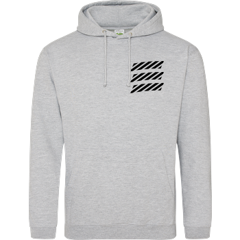 Echtso - Striped Logo JH Hoodie - Heather Grey