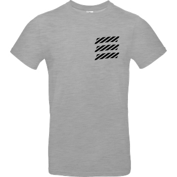 Echtso Echtso - Striped Logo T-Shirt B&C EXACT 190 - heather grey