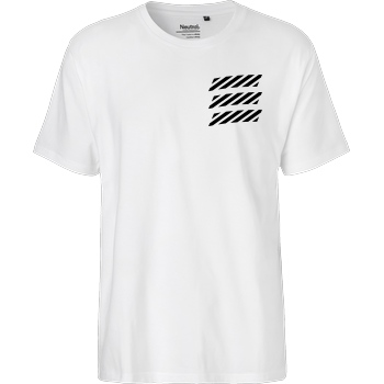 Echtso Echtso - Striped Logo T-Shirt Fairtrade T-Shirt - white