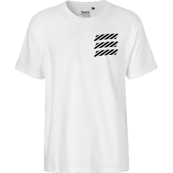 Echtso - Striped Logo Fairtrade T-Shirt - white