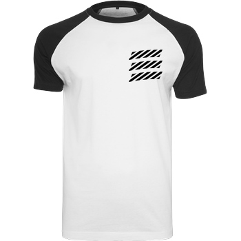 Echtso Echtso - Striped Logo T-Shirt Raglan Tee white