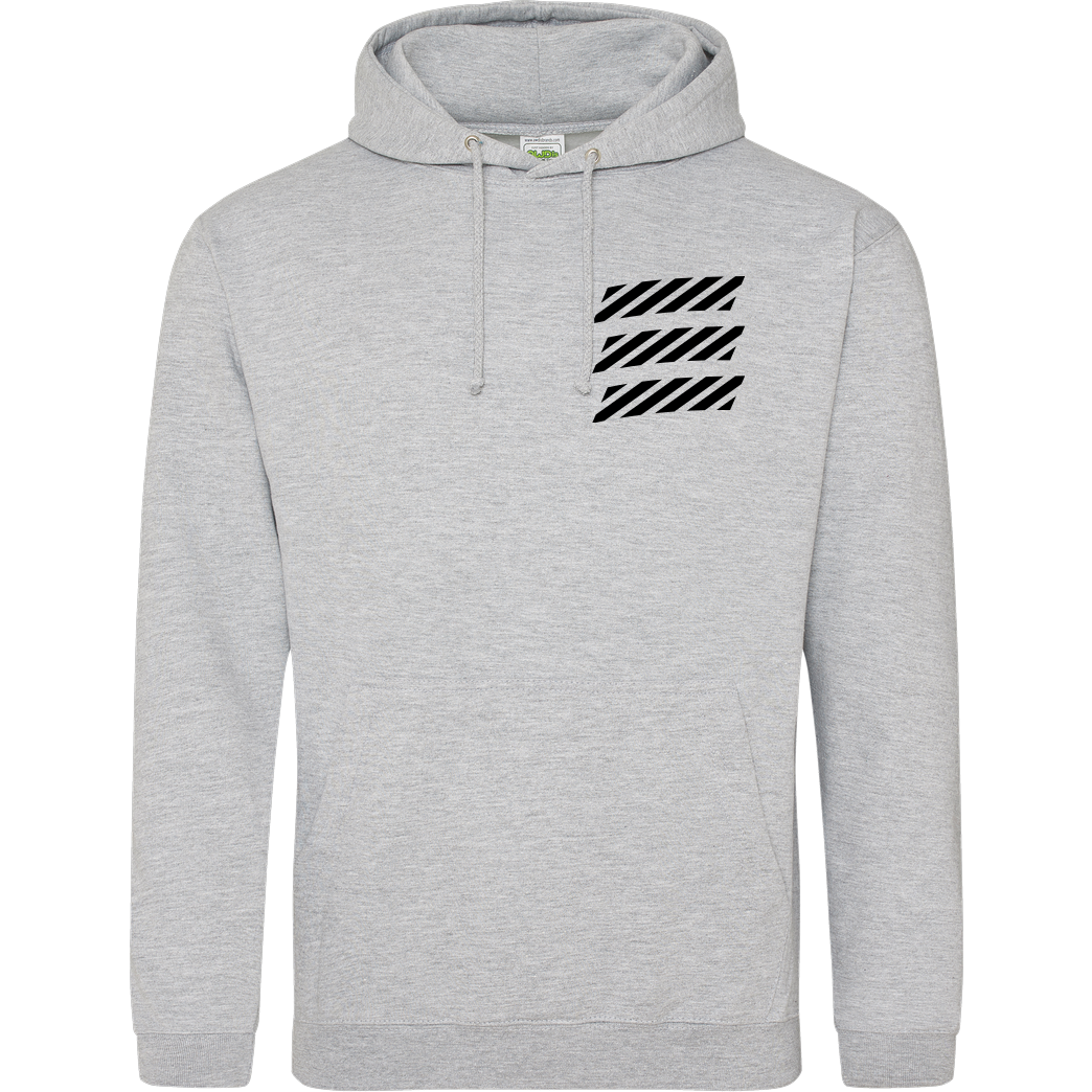 Echtso Echtso - Striped Logo Sweatshirt JH Hoodie - Heather Grey