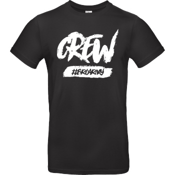 GamerBrother GamerBrother - Crew-Shirt - BroArmy T-Shirt B&C EXACT 190 - Black