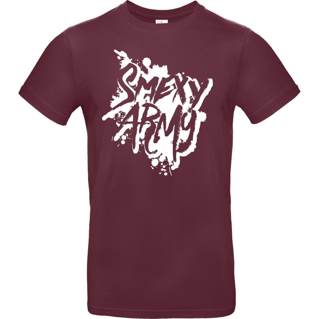Smexy Smexy - Army T-Shirt B&C EXACT 190 - Bordeaux