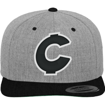 C0rnyyy - Logo Cap 3D Cap heather grey/black
