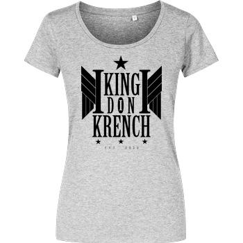 Krench Royale Krencho - Don Krench Wings T-Shirt Damenshirt heather grey