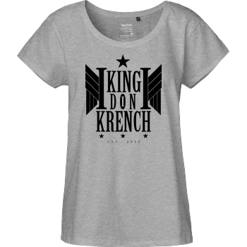 Krench Royale Krencho - Don Krench Wings T-Shirt Fairtrade Loose Fit Girlie - heather grey