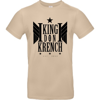 Krench Royale Krencho - Don Krench Wings T-Shirt B&C EXACT 190 - Sand