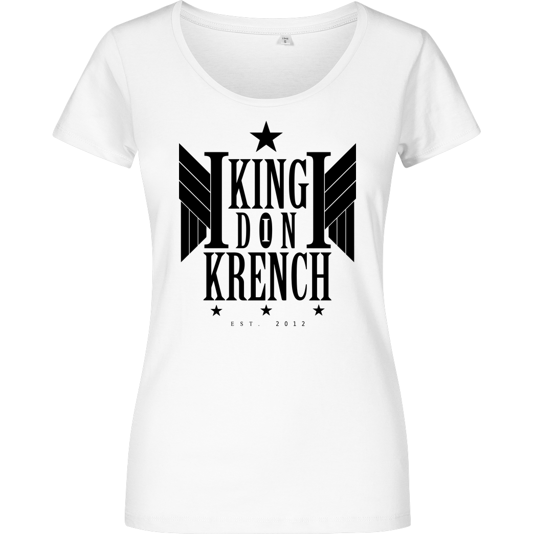Krench Royale Krencho - Don Krench Wings T-Shirt Damenshirt weiss