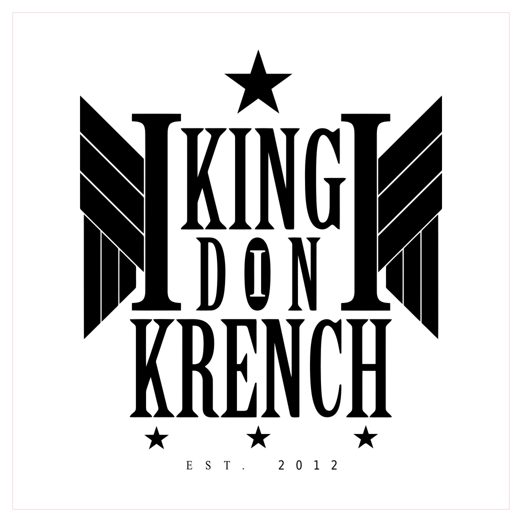 Krench Royale Krencho - Don Krench Wings Druck Art Print Square white