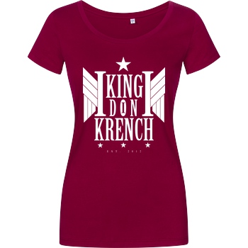 Krench Royale Krencho - Don Krench Wings T-Shirt Damenshirt berry