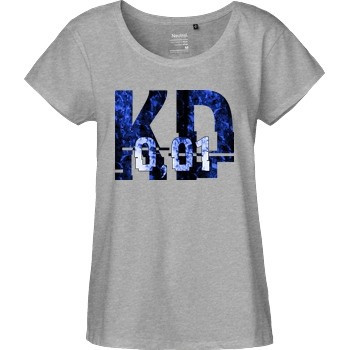 Krench Royale Krencho - Blue Matter T-Shirt Fairtrade Loose Fit Girlie - heather grey