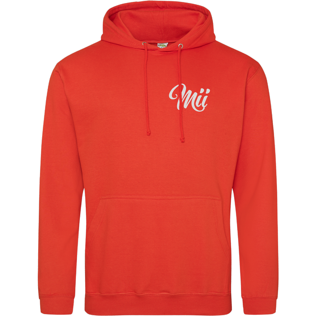 Mii Mii MiiMii - embroided Logo Sweatshirt JH Hoodie - Orange