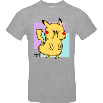 Mii Mii MiiMii - Miikachu T-Shirt B&C EXACT 190 - heather grey