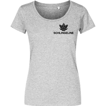 Sephiron Sephiron - Schlingeline Polygon pocket T-Shirt Girlshirt heather grey