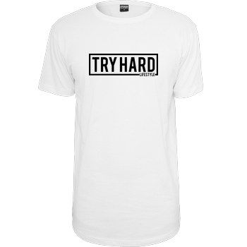 MarcelScorpion MarcelScorpion - Try Hard Lifestyle T-Shirt Urban Classics Long Tee white