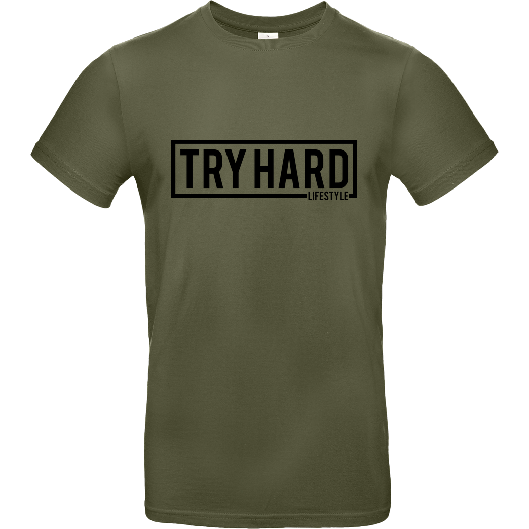 MarcelScorpion MarcelScorpion - Try Hard Lifestyle T-Shirt B&C EXACT 190 - Khaki