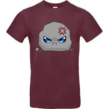 GermanLetsPlay GermanLetsPlay - Böser Stein T-Shirt B&C EXACT 190 - Bordeaux