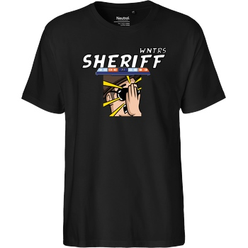 WNTRS WNTRS - Sheriff Fail T-Shirt Fairtrade T-Shirt - schwarz