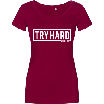 MarcelScorpion Marcel Scorpion - Try Hard Lifestyle T-Shirt Damenshirt berry