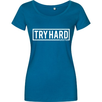 MarcelScorpion Marcel Scorpion - Try Hard Lifestyle T-Shirt Girlshirt petrol