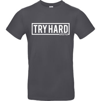MarcelScorpion Marcel Scorpion - Try Hard Lifestyle T-Shirt B&C EXACT 190 - Dark Grey