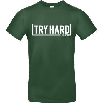 MarcelScorpion Marcel Scorpion - Try Hard Lifestyle T-Shirt B&C EXACT 190 - Flaschengrün