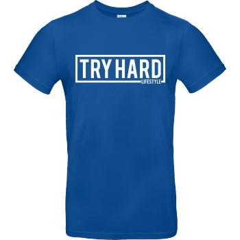 MarcelScorpion Marcel Scorpion - Try Hard Lifestyle T-Shirt B&C EXACT 190 - Royal