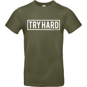 MarcelScorpion Marcel Scorpion - Try Hard Lifestyle T-Shirt B&C EXACT 190 - Khaki