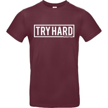 MarcelScorpion Marcel Scorpion - Try Hard Lifestyle T-Shirt B&C EXACT 190 - Burgundy