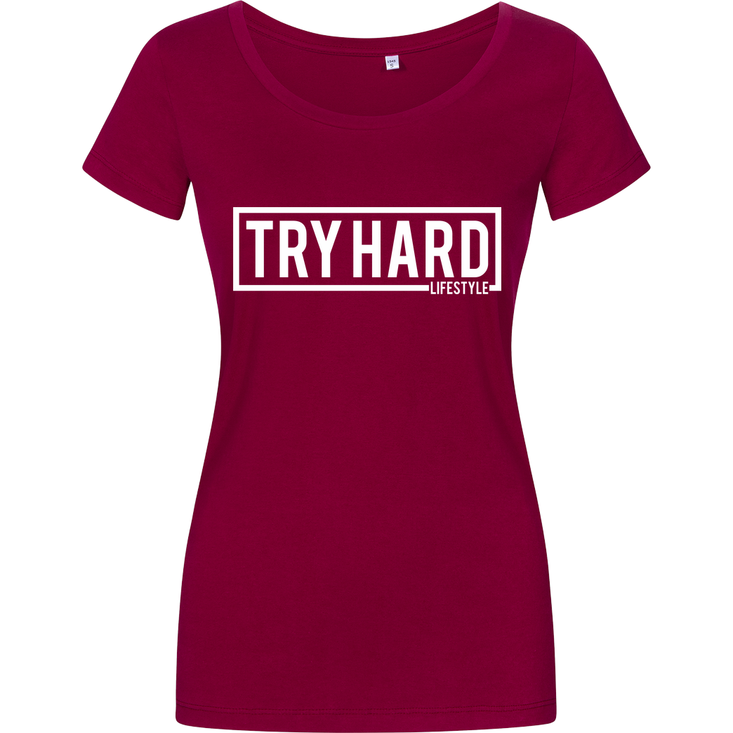 MarcelScorpion Marcel Scorpion - Try Hard Lifestyle T-Shirt Girlshirt berry