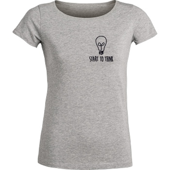 Klengan Klengan - Start to think T-Shirt Stella Loves Girlie heather grey